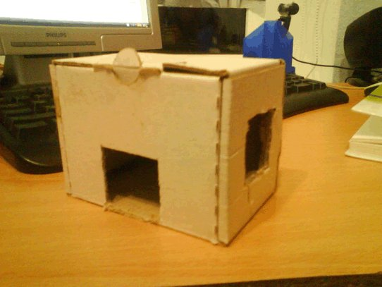 Простой дом для грызуна из картона