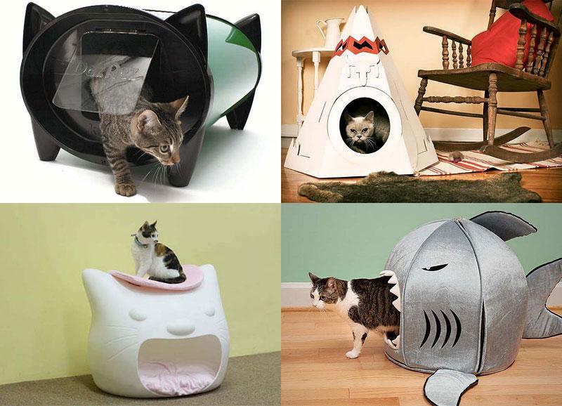 Домики для кошек своими руками