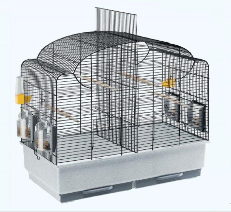 Клетка для попугая сложной конструкции