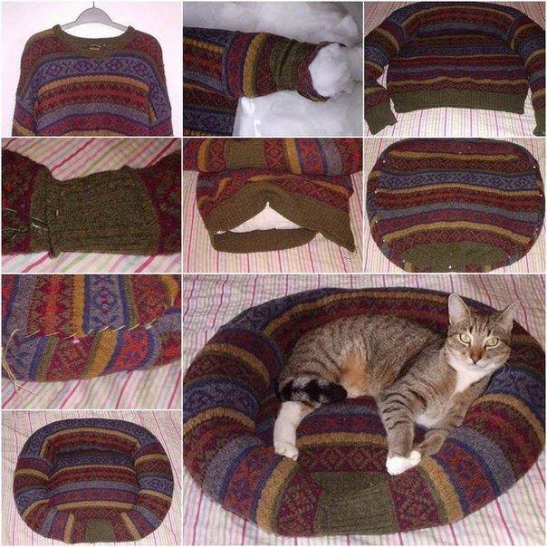 спальное место для кошки своими руками пошаговая инструкция - фото 5