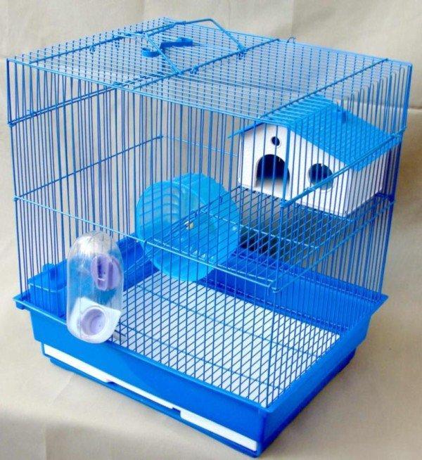 Металлическая двухэтажная клетка для хомяков